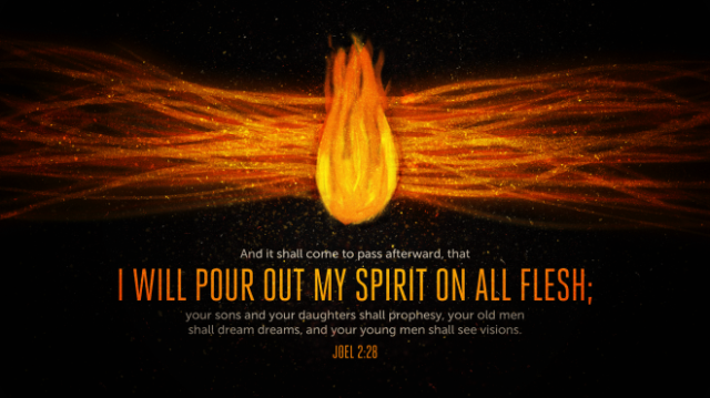 I will pour out MY Spirit...